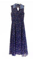 Liza Luxe Modcloth Floral Sheer Midi Dress NWT Size L