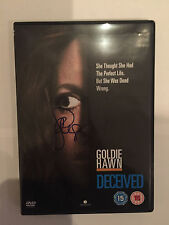 Goldie Hawn AUTOGRAPHED Deceived DVD-see photo Signing proof Attached