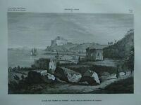 1845 Zuccagni-Orlandini Avanzi del Tempio di Venere a Baja Provinicia di Napoli