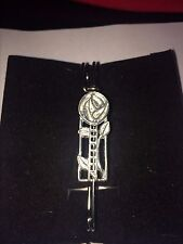 "Mackintosh Rose & Ladders W22 Scarf , Brooch and Kilt Pin Pewter 3""  7.5 cm"