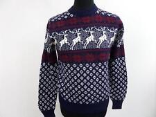 "Unisex Vintage Snowflake Knit Novelty Sweater Jumper 36"" Multi Grade A BA405"