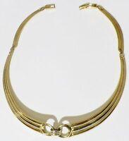 Bijou Vintage collier rétro 4 parties rigide couleur rodier or argent * 4543