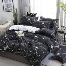 Marble Printed Bedding Set Bedclothes Bed Sheets Pillowcase Home Textiles New