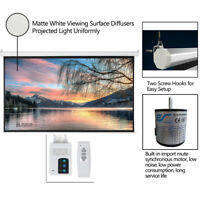 """92"""" 16:9 80"""" x 45"""" Viewing Area Motorized Projector Screen Remote Control US"""