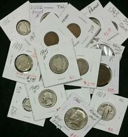 Estate Lot of ( 10 ) Old U.S. Coins, With Silver Too