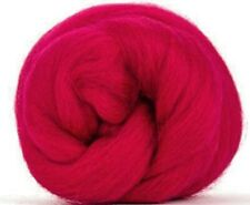 4 Ounces Corriedale Wool Combed Top/Roving - Crimson - FREE SHIPPING