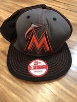 New Era Miami Marlins Black DJ Khaled Collection 9FIFTY Snapback Hat