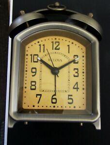 "BULOVA - NEW BATTERY-OPERATED  BELL ALARM CLOCK ""HOLGATE II ""  B8129"
