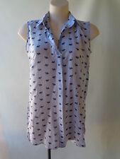 NEW Brown Sugar blue print sleeveless top size 10 print NWT