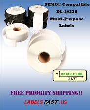 30336 Address Labels Labelwriter Dymo Twin Turbo 400 450 El60 Bc Xl Compatible