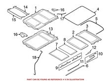 For BMW Genuine Sunroof Guide Rail Front 54102993888