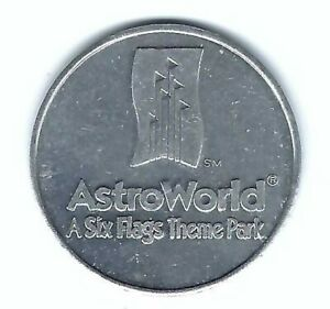 VINTAGE ASTROWORLD SIX FLAGS AMUSEMENT PARK HOUSTON TEXAS COIN TOKEN MEDALLION