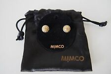 MIMCO  Large Dome Crystal Jewel Stud in Silver & Yellow  BRAND NEW WITH TAGS