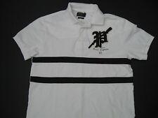 "POLO RALPH LAUREN Men's White Custom-Fit Gothic ""P"" Patch Crew Polo XL"