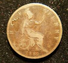1884 Great Britain Half Penny OLD Collectible Coin!