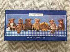 Anne Geddes 700 Pc Puzzle Blue w/Bears Factory Sealed! 34x12 1997