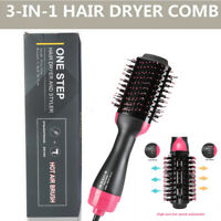 USA 3In1 One Step Hair Dryer and Volumizer Brush Straightening Curling Iron Comb