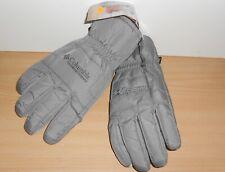 Columbia snow Heat Winter Gloves Waterproof Breathable Light Grey Men's sz SMALL