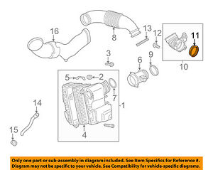 VW VOLKSWAGEN OEM 11-12 Touareg Air Cleaner Intake-Damper Seal 059129193C