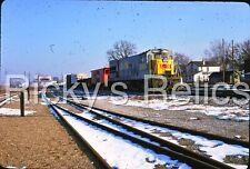 Original Slide L&N 2709 GE U23B Extra 1975 Lafayette IN Louisville Nashville