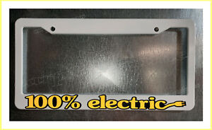 100% electric reflective yellow emission free License Plate Frame tag holder
