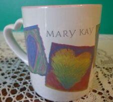 Coffee Cup Mug Mary Kay Cosmetics Make Up Pink Hearts Coffee Heart Handle