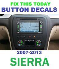 AC FAN  BUTTON DECALS 2007-2013 GMC SIERRA TRUCKS 1500 SLT