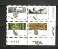 Canada SC # 1286a Canadian Forrest , Block Of  4 . MNH