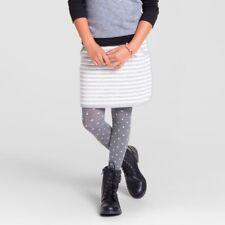 NEW Kids Girls Cat & Jack Stripe Gray White Skirt Size 7 8 Medium