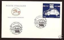 Italia : Fiat 500 -  FDC - 1° Giorno di emissione - Poste Italiane - Torino