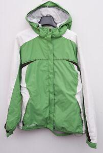 Columbia L Women's Ski Jacket Waterproof Fleece Lining Coat Hooded Green RA04h