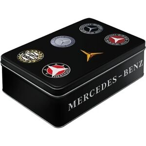 Mercedes Benz Storage Metal, 23 CM Hoard Box, Gift Container