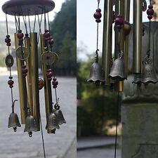 4 TUBI 5 campane ~ BRONZO Furin giardino, ESTERNO ARREDO CASA campanelli a vento