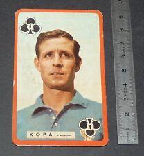 FOOTBALL CARTE PHOTO RAYMOND KOPA STADE REIMS AUGUSTE-DELAUNE FRANCE 1959-1960