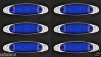 6 x 12 Leds Azul 12V Lado Borde Cromado Marcador Luces Coche SUV Van Bus Camión