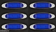 6x 12 LED BLEU 12V LATÉRAL CHROME côté FEUX DE POSITION VOITURE SUV VAN BUS