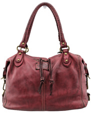 Borsa a bauletto in pelle vintage Bayside 84 made in Italy art BS 139 mini Rock