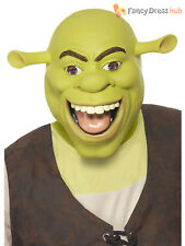 Adult Shrek Latex Over Head Mask Film Ogre Mens Fancy Dress Costume Accessory