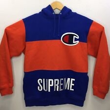 Supreme®/Champion® Hoodie Brand Authentic Cotton Blend Embroidered Size Large