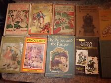 Lot of 8 children's kids books - Ralph Bunny Brown Pinnochio Treasure Isl - LOTL