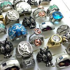 20pcs TOP design Mix Men's Women's Punk Rock Rings Lost Wax CASTING Jewelry