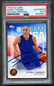 Diana Taurasi #4 signed autograph auto 2016 Topps USA Olympic Team Card PSA Slab