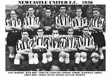 NEWCASTLE UNITED F.C.TEAM PRINT 1956 (STOKOE/DAVIES/MILBURN)