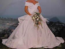 Vintage Scaasi Bride Satin Wedding Dress With Train Eva Haynal Forsyth Size 8/10