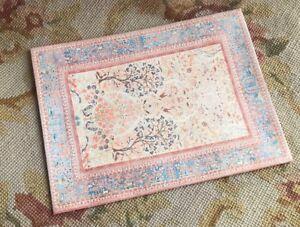 Pat Tyler Dollhouse Miniature Canvas Floorcloth Covering Rug Carpet Peach 480