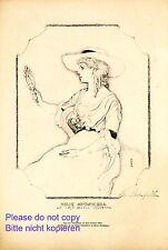 Tilly Kutschera Kunstdruck 1920 Hans Strohofer Burgtheater Wien Schauspielerin