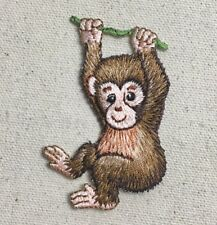 Baby Monkey - Animal/Primate - Hanging/Branch Iron on Applique/Embroidered Patch