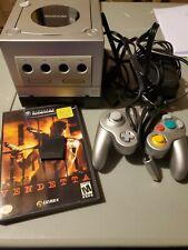 Silver Nintendo GameCube Console, Controller,  Diego Hard Vendetta and mem card.