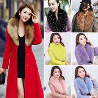 Women Ladies Faux Fur Scarf Collar Shawl Stole Fluffy Winter Warm Fashion