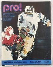 10-24-1971 NFL Football Program Atlanta Falcons vs New Orleans Saints